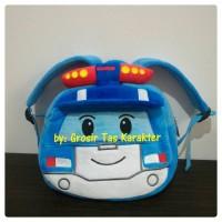 Tas Ransel Anak Boneka Karakter ROBOCAR POLI Poly Car Biru (Bulat)