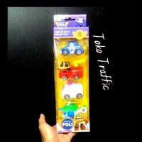 mainan anak robocar poli isi 4 set hadiah ulang tahun anak