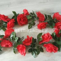 jual bunga mawar plastik artificial type b / tanaman merambat dinding