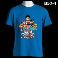 Paw Patrol Puppy Team Custom Name | B57-4 Kaos Couple Family T-Shirt
