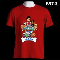 Paw Patrol Puppy Team Custom Name | B57-3 Kaos Couple Family T-Shirt