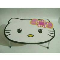 meja lipat karakter hello kitty putih