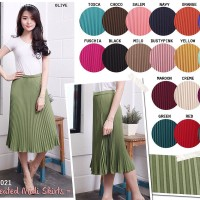 Pleated Midi Skirts / Rok 7/8 Lipit / Rok Lipit