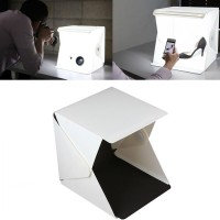 Mini Studio Photo Box Lipat Portable Lampu LED Ukuran L