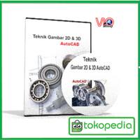 CD VideoTutorial Teknik gambar 2D&3D Autocad 2010 Bahasa Indonesia