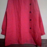 Atasan Blus Lengan Panjang Merah