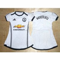 Dress Baju Bola Bayi Jersey Anak Perempuan - MU Putih Limited