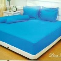 Bedcover saja tanpa sprei Vallery Diva Blue king size