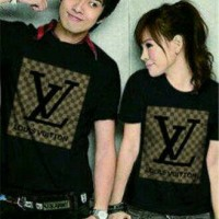 Baju Couple LV Black