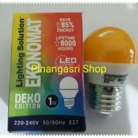 LAMPU LED ekonomat 1 watt KUNING 1w / 1 w Bulb LED 1watt Lampu Tidur