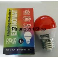 LAMPU LED ekonomat 1 watt MERAH 1w / 1 w Bulb LED 1watt Lampu Tidur