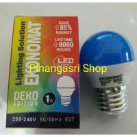 LED ekonomat 1 watt BIRU 1w / 1 w Bulb LED 1watt Lampu Tidur