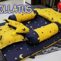 kasur bayi + set selimut bayi , set selimut , banggul bayo dan banpey