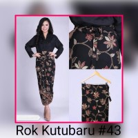 Rok Kutubaru #43 Rok Lilit Kain Batik Serut Modern Murah Kutubaru A167