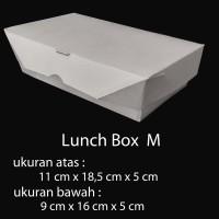 PAPER BOX LUNCH UKURAN M / PAPER BOX KERTAS / PAPER TAKE AWAY - Putih