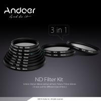 Andoer 58mm Photography Filter Set ND2 ND4 ND8 Fader ND Filter Kit r