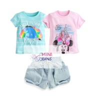 Baju Setelan Anak 3In1 Import Minnie Eeyore Set Best Seller