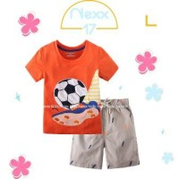 Baju Anak Setelan Casual Import Orange Ball Set Best Seller