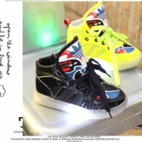 Sepatu Lampu Led Anak Import Mask Lamp Shoes Diskon