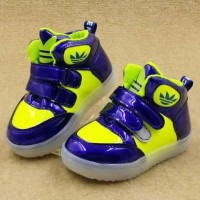 Sepatu Anak Led Lampu Import Blue Yellow Shoes Pink White Shoes
