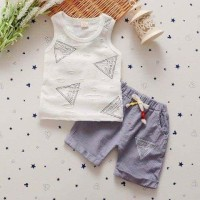 Baju Anak Casual Import Handless Triangle Set Diskon