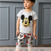 Baju Setelan Anak Import Casual Nice Mickey Set Best Seller