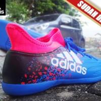 SEPATU FUTSAL Adidas X 16.2 Techfit Boots Biru Pink KW Super