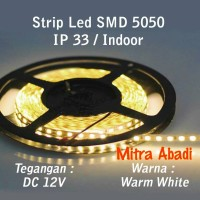 Flexible Lampu LED Strip Warm White SMD 5050 DC12V IP33 INDOOR ONLY