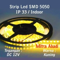 Flexible Lampu LED Strip Yellow/Kuning SMD 5050 DC12V IP33 INDOOR ONLY