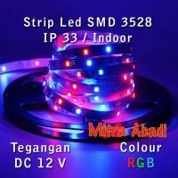 Flexible LED Strip RGB (RED-GREEN-BLUE) SMD 3528 DC12V IP33 INDOOR