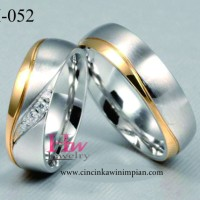 Cincin Kawin Perak Cincin Tunangan Cincin Couple Cincin Nikah H 051