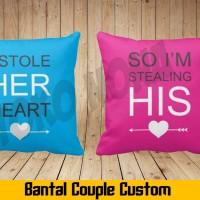 Bantal Couple (40x40 cm)/Bantal foto/Souvenir