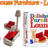 Wooden Furniture RUANG TAMU Dollshouse Furniture - Lounge mainan kayu