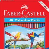 Pensil Warna Faber Castell 48 Water colour / Free Kuas dan Rautan