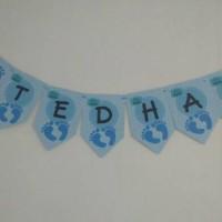 Tedhak, Aqiqah, Baby Shower 1st Month, Birthday Bunting Flag Custom
