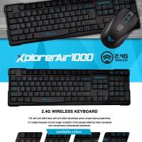 Powerlogic Alcatroz Wireless Keyboard Mouse XplorerAir 1000