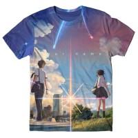 Your Name/Kimi No Na Wa Full Graphic T-Shirt Anime Tshirt-Kaos-Baju