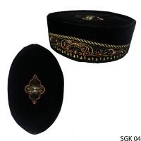 Peci Songkok Pria Muslim Beludru Hitam SGK 04
