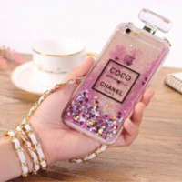 coco Chanel perfume water glitter case for iPhone 5g/5s