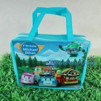 Tas Ultah/Jinjing Resleting/Souvenir/Goodie bag PAW Robocar Poli LEGO