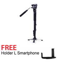 Yunteng Vct-288 Pro Monopod-Tripod - Free Holder L Smartphone