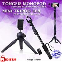 Tongsis Monopod Bluetooth Yunteng Yt-1288(T348)+Tripod Mini 268(T347)