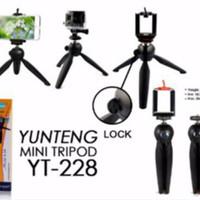 Paket Selfie Yunteng Tongsis Bluetooth YT-1288 + Mini Tripod YT-288