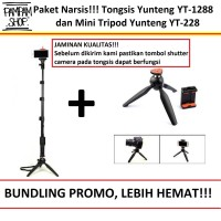 Tongsis Yunteng YT-1288 With Bluetooth Shutter dan Mini Tripod YT-228