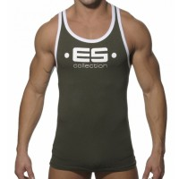 Tank Top Pria ES Collection Muscle Back Army