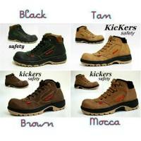 Sepatu Pria Kickers Boots Safety Proyek Ujung Besi