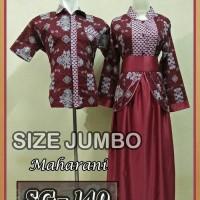 Sarimbit jumbo l sarimbit gamis batik jumbo l couple pasangan jumbo 1