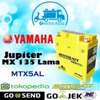 Aki Motor Yamaha Jupiter MX 135 lama Motobatt MTX5AL Aki Kering