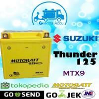 Aki Motor Suzuki Thunder 125 Motobatt MTX9 Aki kering / Aki Gel