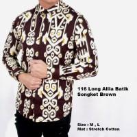 terlaris kemeja batik songket pria lengan panjang | baju batik modern
